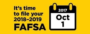 It's Time to File Your 2018-2019 FAFSA
