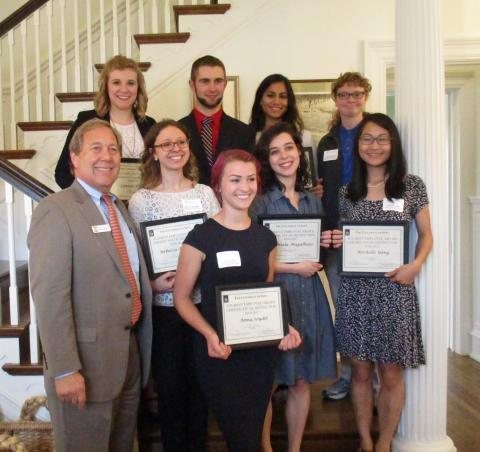 Photo of Student Employee of the Year Winners 2016-2017